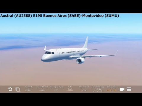 [Infinite Flight Global] Austral (AU2388) Embraer E190 Buenos Aires-Montevideo
