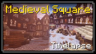 minecraft square town medieval