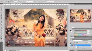 Урок по Photoshop CS5 | Теплые тона на фото