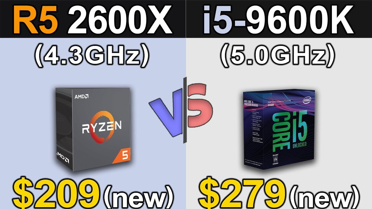 R5 2600X (4 3GHz) Vs  i5-9600K (5 0GHz) | RTX 2080 Ti | 1080p and 2160p  Gaming Benchmarks