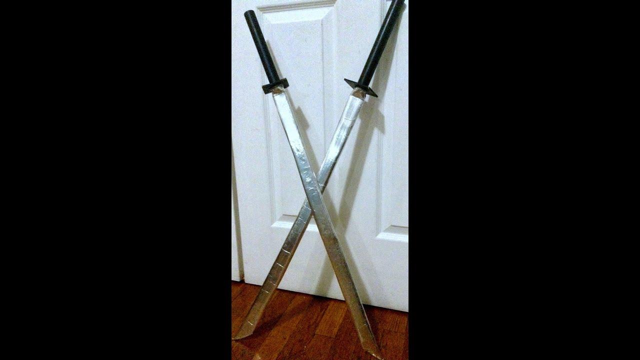 diy how to make leonardo s sword from ninja turtles youtube