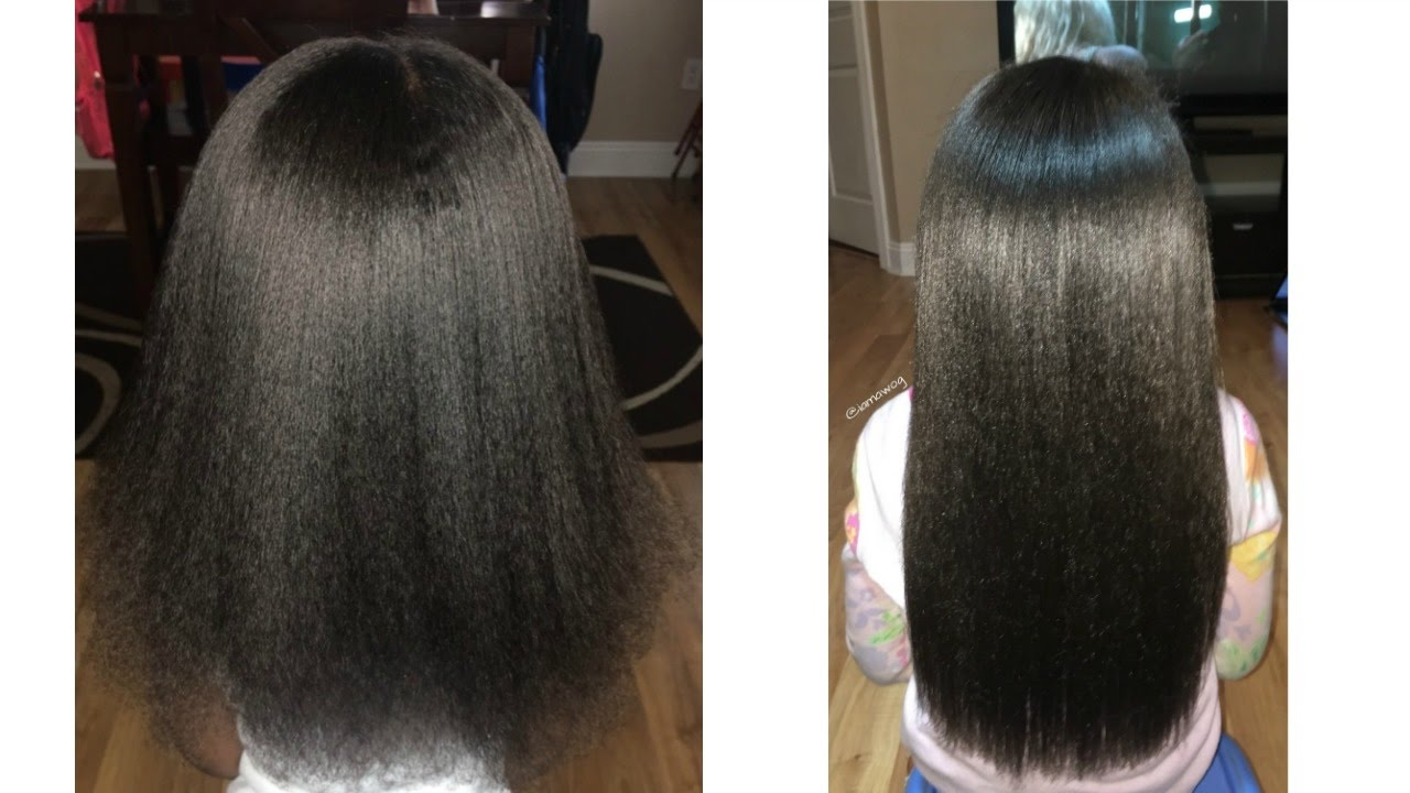 blow out flat iron routine kids natural haircare iamawog youtube