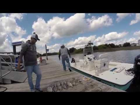 Ocean Isle Beach NC...Sheepshead & Flounder Fishing 2015 HD