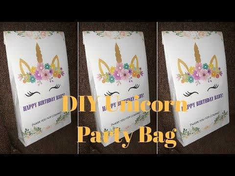 Easy DIY Unicorn Party Bag|Unicorn Birthday Bag|Party Decor|Melba