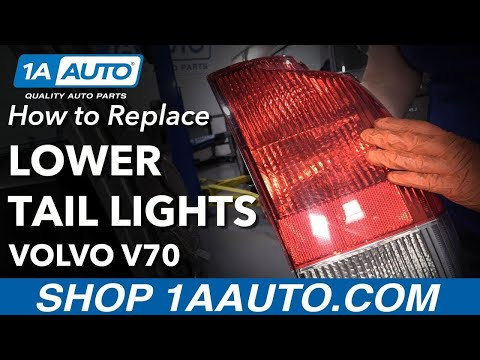 How to Replace Lower Tail Light 01-04 Volvo V70