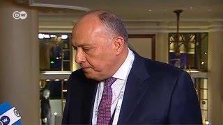 وزير الخارجية المصري لـ DW: المجتمع الدولي تأخر كثيرا للتوصل لاتفاق حول سوريا