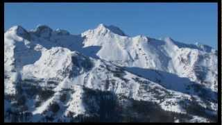 Traditional chinese music - chinese ensemble with winter mountains