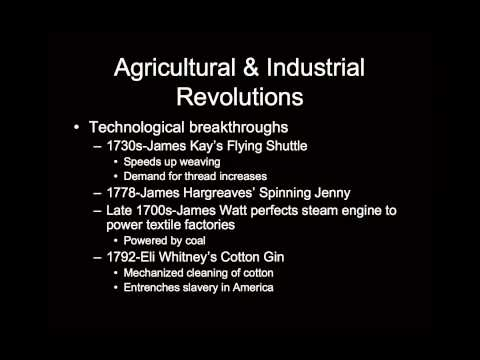 Agricultural and Industrial Revolutions