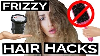 24 Insanely Easy Frizzy Hair Hacks