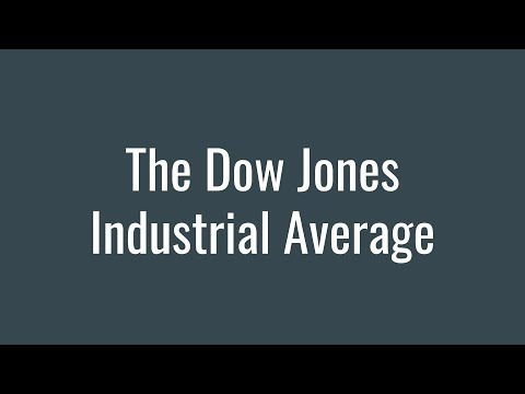 The Dow Jones Industrial Average DJIA Stock Index