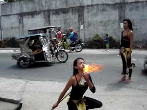 Philippine fire eaters