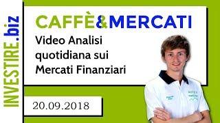 Caffè&Mercati - Cresce il mercato Auto in Europa, bene BMW e FCA