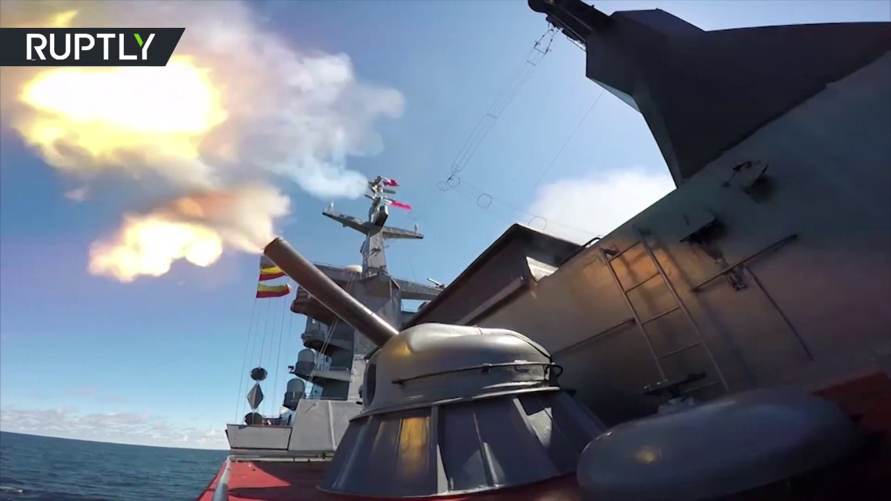 Стрельбы кораблей Балтийского флота в рамках учений «Запад-2017»