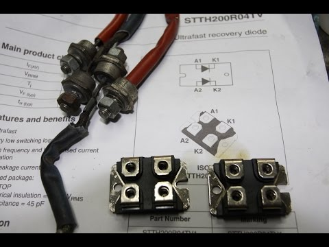 Replacing Diodes on a Miller Thunderbolt 225 amps ACDC Welder  YouTube