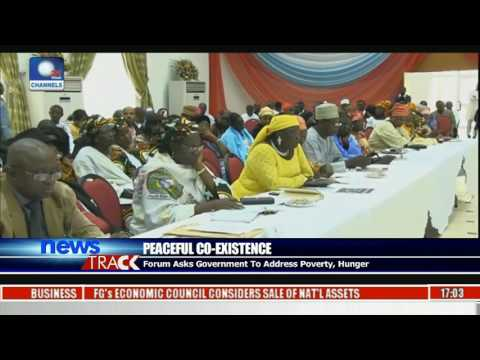 Peaceful Co-Existence: Forum Asks Government To Address Poverty, Hunger
