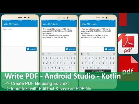 Android save to files on how and pdf