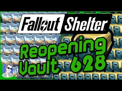 Fallout Shelter - Let's re-open Vault 628 and Open Lunchboxes/Pet Carriers