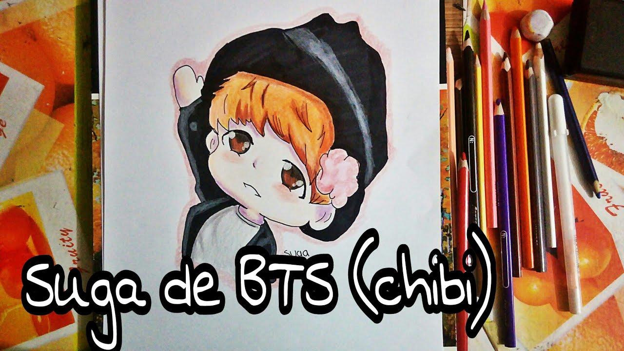 Drawing A Suga Bts Dibujando A Suga De Bts Chibi Arenas Arts