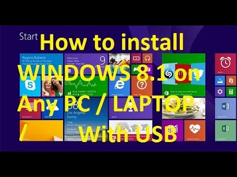 How to install WINDOWS 8.1 on Any PC / LAPTOP With USB