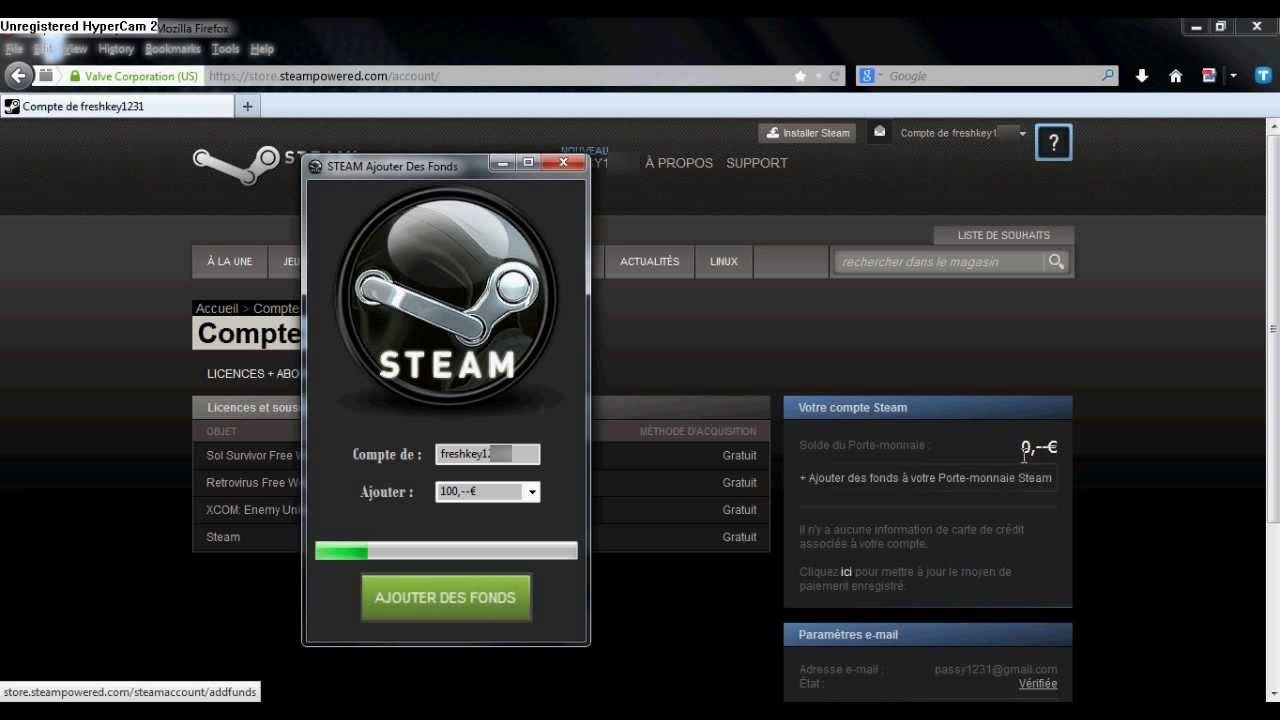 how to add funds steam