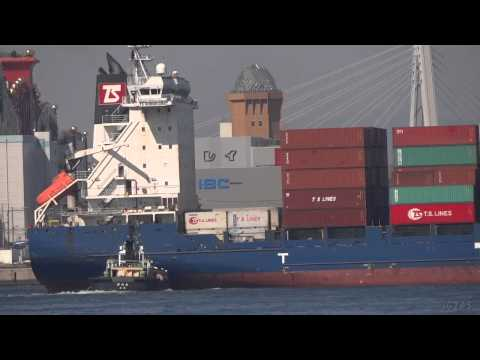 [船]TS HONG KONG Container ship コンテナ船 OSAKA Port 大阪港 2013-MAR