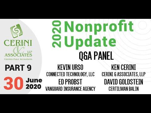 Nonprofit Update, Part 9 (2020) featuring David Goldstein