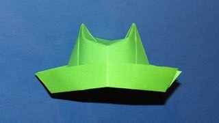 How To Make An Origami Hat (top Hat) 04