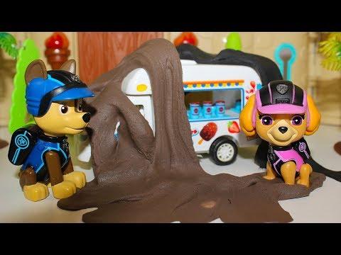 Мультики про машинки Щенячий патруль и Герои в масках Машина Мороженое Мультфильмы для детей