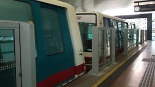 Commuters in an LRT train at Fajar LRT station