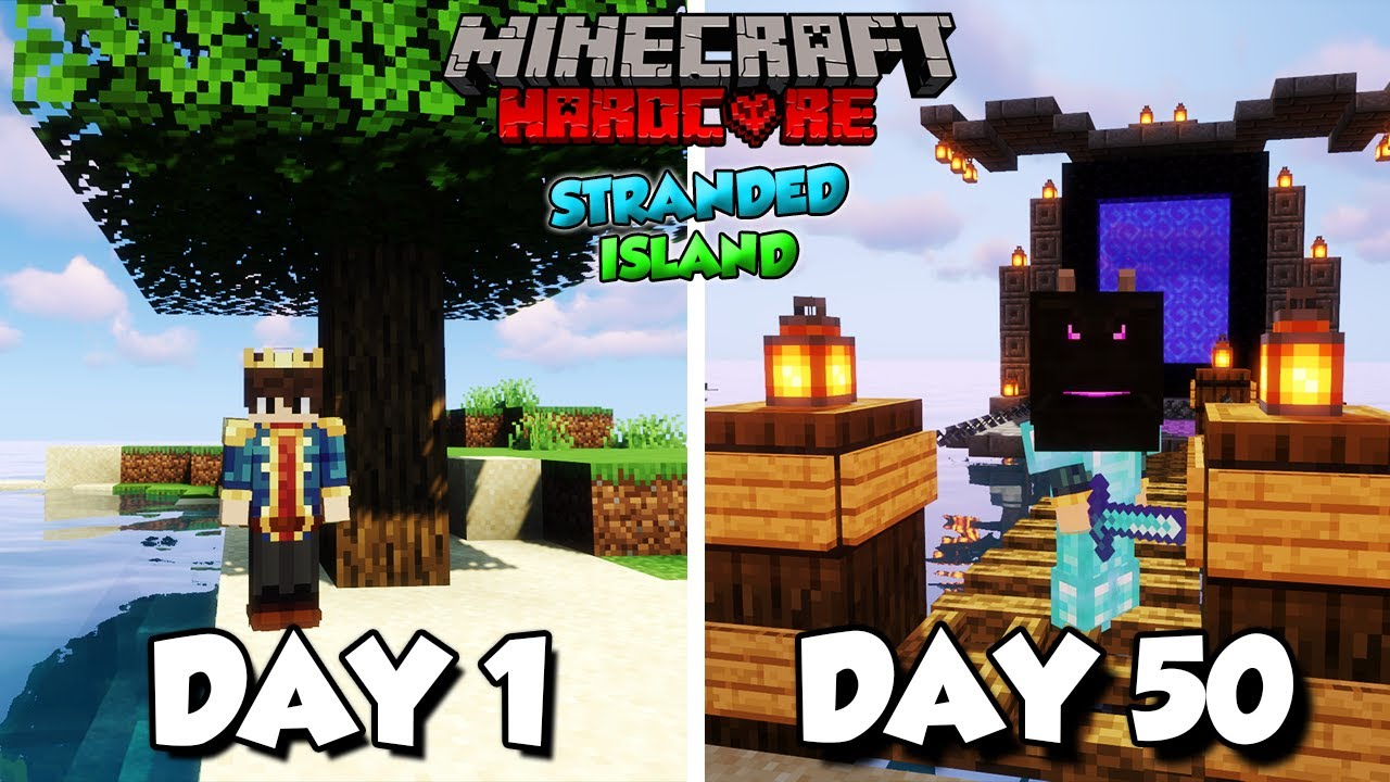 I Survived 50 Days on a SURVIVAL ISLAND in Minecraft Hardcore
