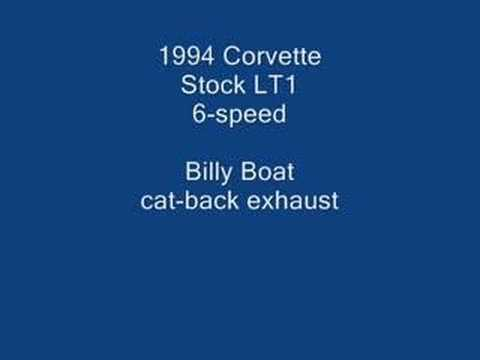 C4 Corvette with Billy Boat exhaust