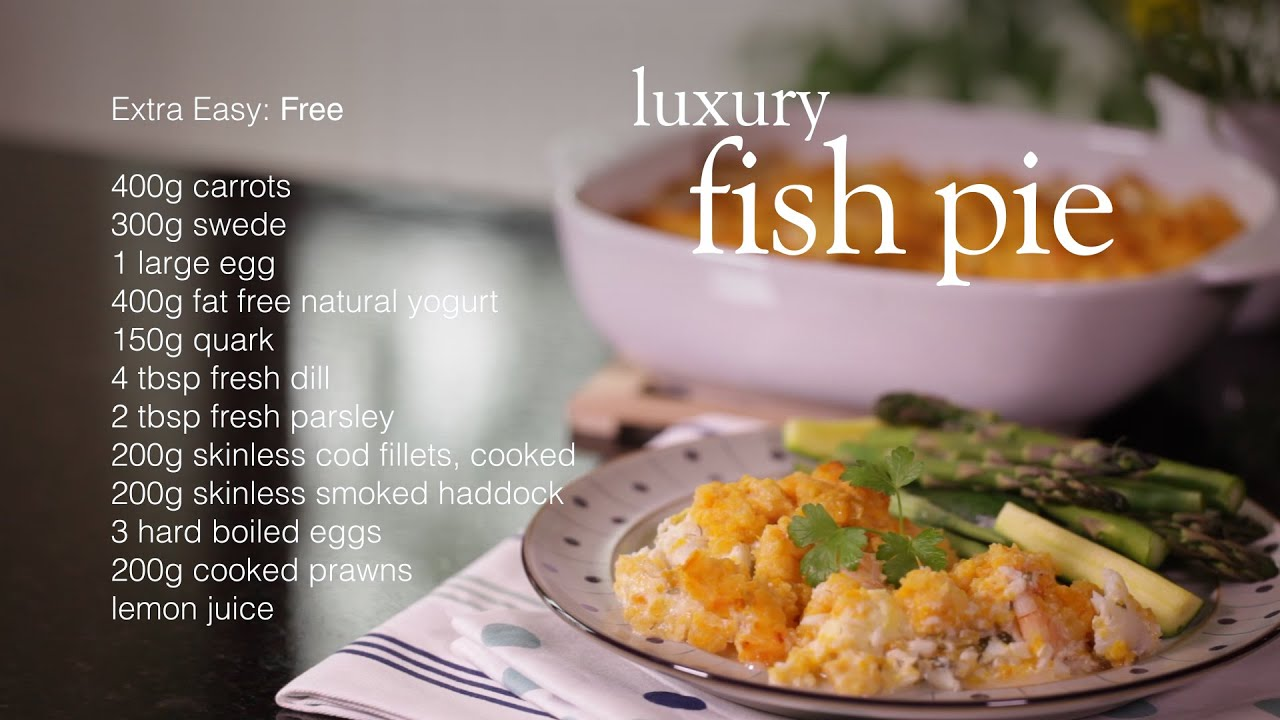 Slimming world luxury fish pie recipe youtube Slimming world recipes for 1 person