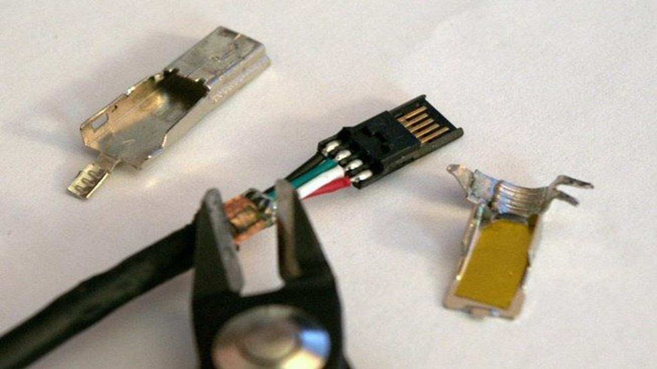 how to repair a usb cable  YouTube