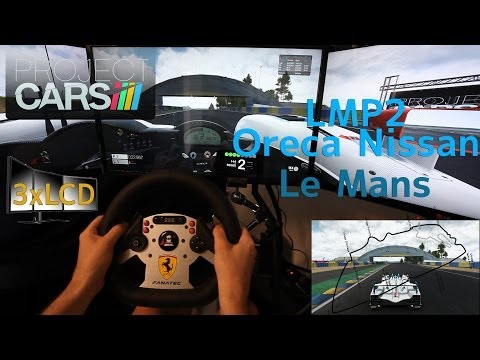 Project CARS answer to Rene Rast LMP2 Oreca at Le Mans 3xLCD