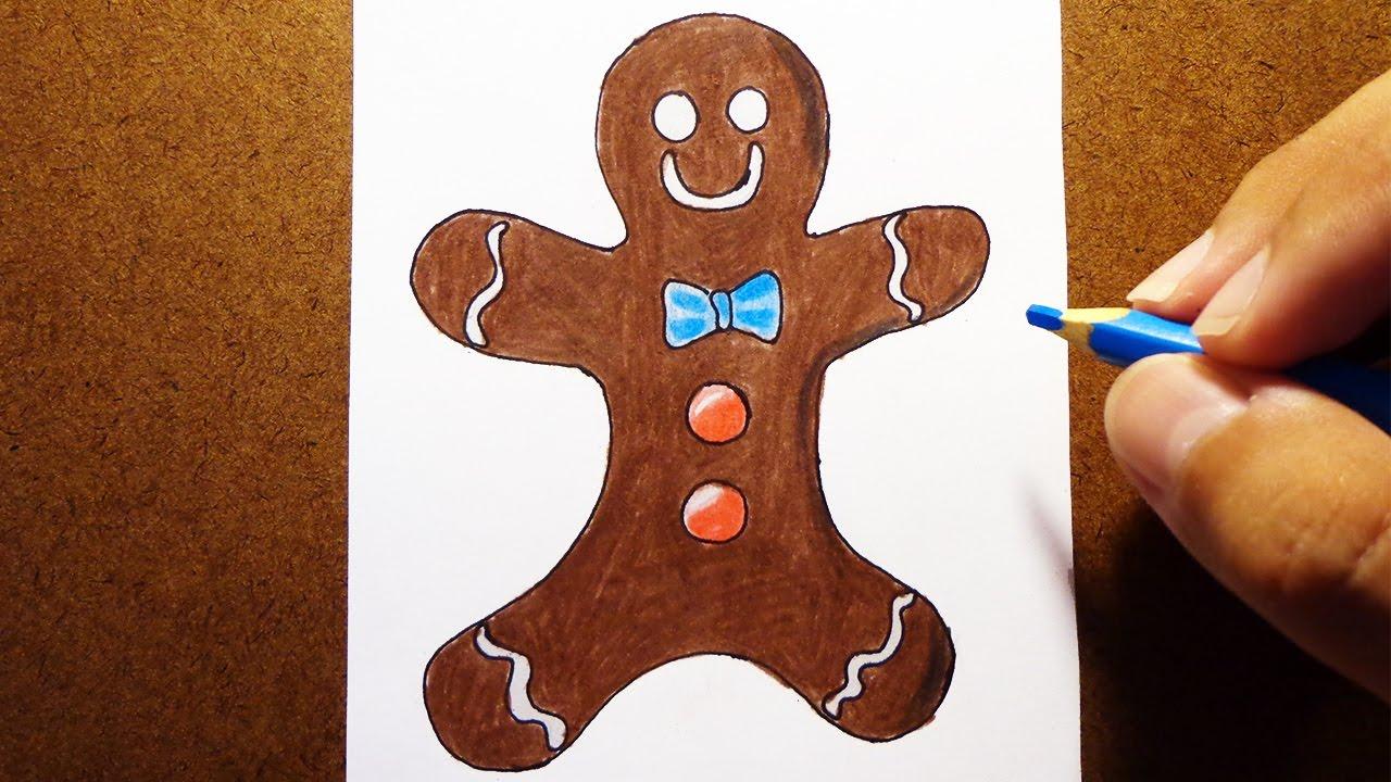 Como Desenhar Biscoito De Natal Youtube