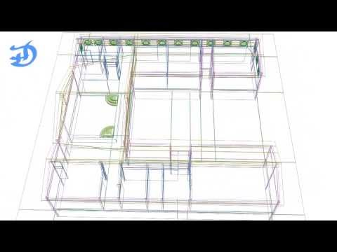 House - Wire-frame 3D Model