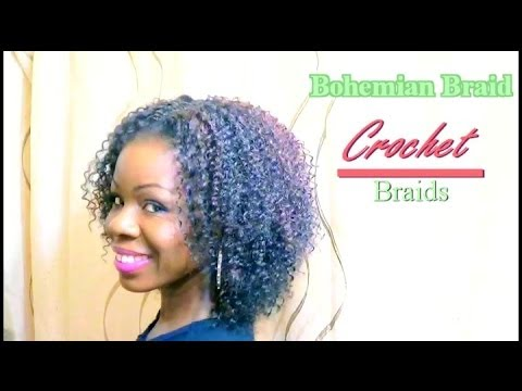 Natural Hair Protective styleCrochet Braids Bohemian Braid - YouTube