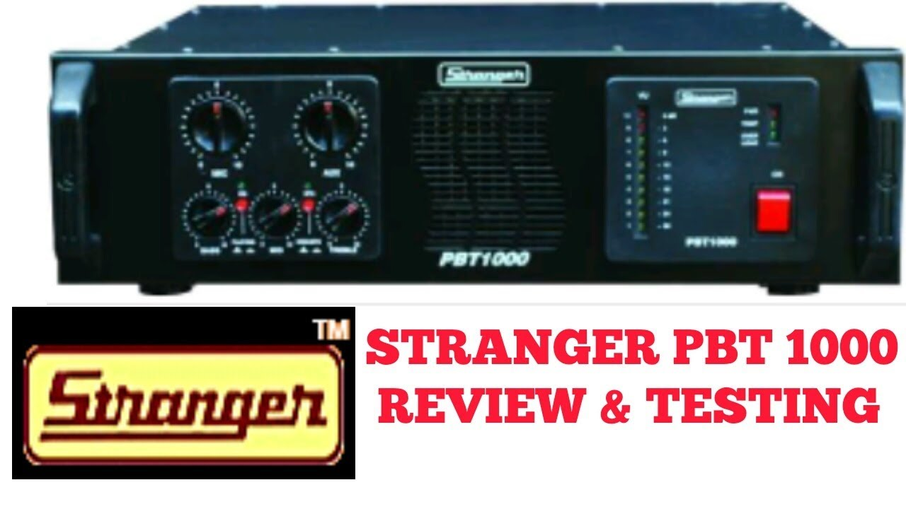 STRANGER PBT1000 REVIEW AND TESTING BY SOUND TECH