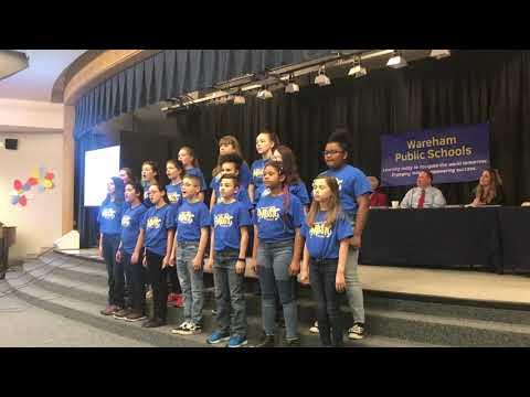 Wareham Middle School Chorus performs 'This is me' at School Committee meeting