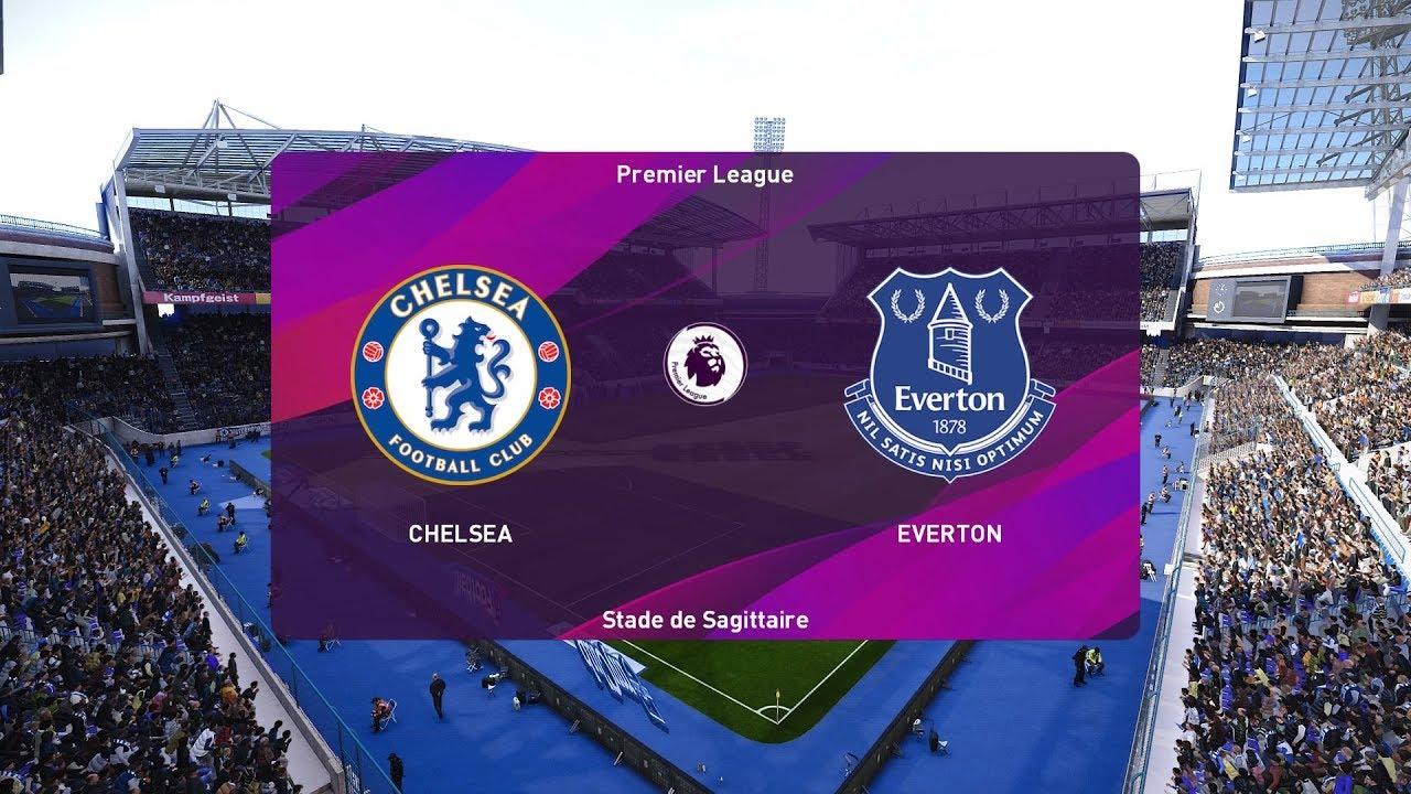 PES 2020   Chelsea vs Everton - Premier League   08/03 ...