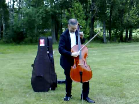 cello in a park in Finland - YouTube