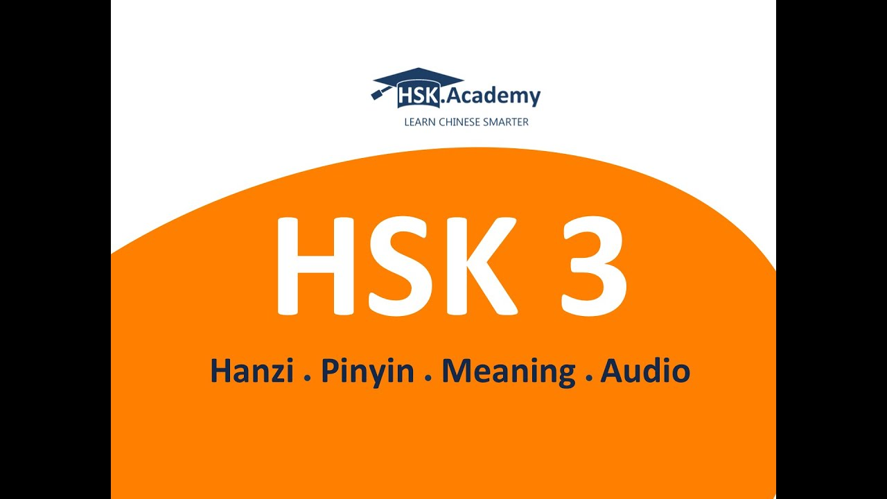 Hsk 3 vocabulary list 300 words in 20 min youtube biocorpaavc