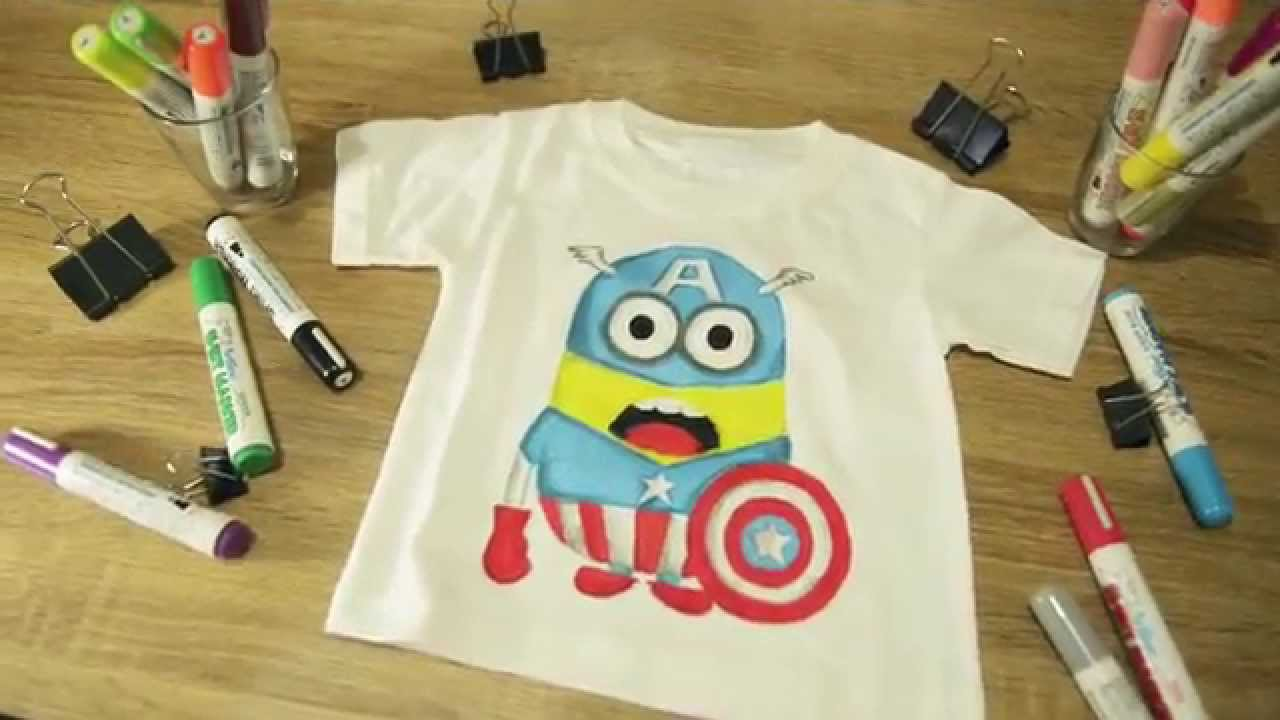 Diy kids t shirt design youtube for How to make a printed shirt