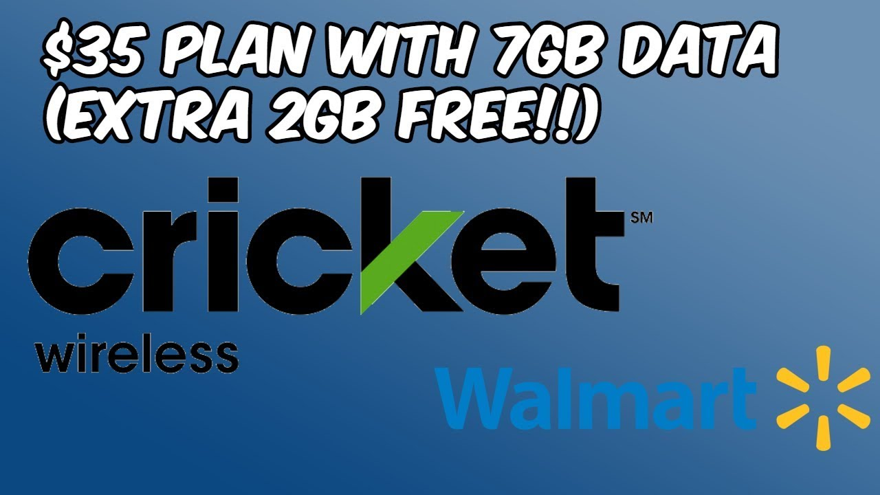 Walmart Cricket Wireless Offering 7GB Data For $35 (Extra 2GB Free) HD