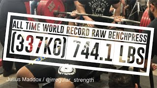 ALL TIME WORLD RECORD || (337kg) 744.1lbs || JULIUS MADDOX