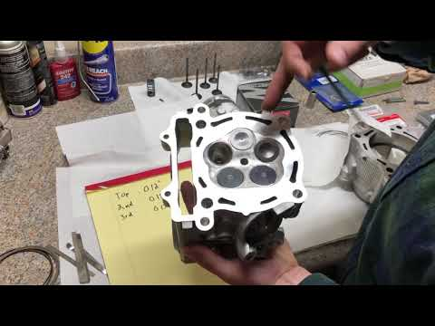 Project YFZ 450 cylinder head porting service Pro1 racing heads and piston  ring gaps