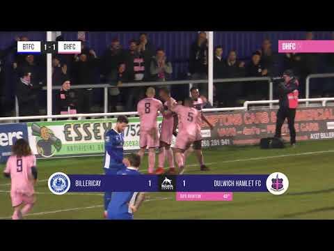 Billericay Town v Dulwich Hamlet, Bostik League Premier Division, 06/03/18 | Match Highlights
