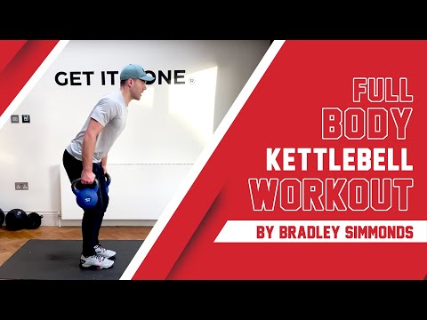 Challenge Yourself to Build Full-Body Muscle In This 30-Minute, 2-Part Kettlebell Home Workout