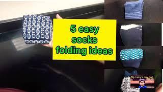 Easy way to fold socks  super 5 method to fold socks fold socks like pro