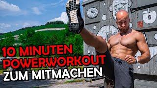 10 Min. Power Workout zum mitmachen! (ohne Geräte)